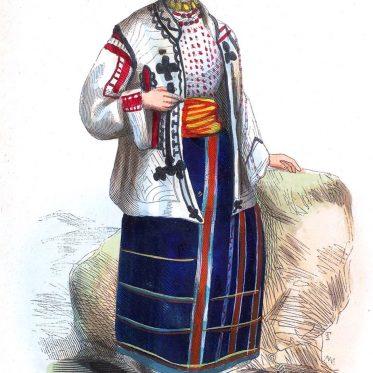 Vlach  Frau aus der Walachei.