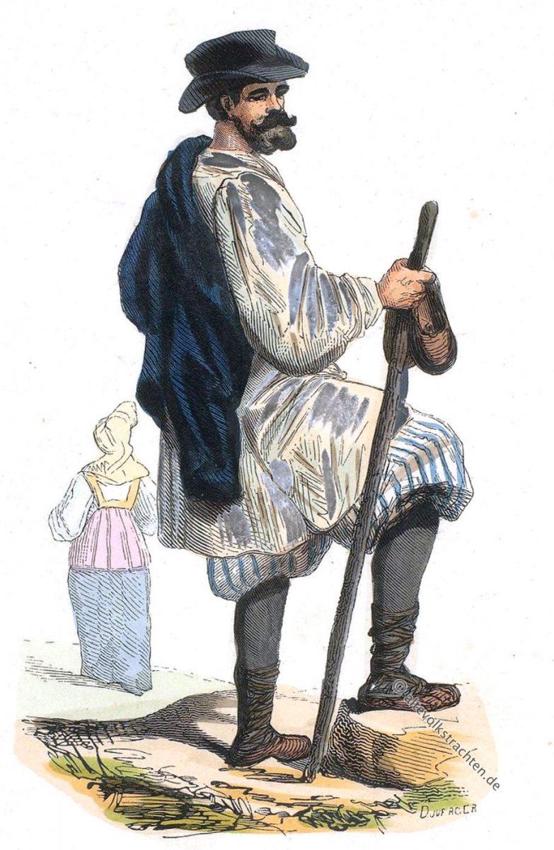 Moskau, Einwohner, Tracht, Kostüm, Auguste Wahlen, Russland