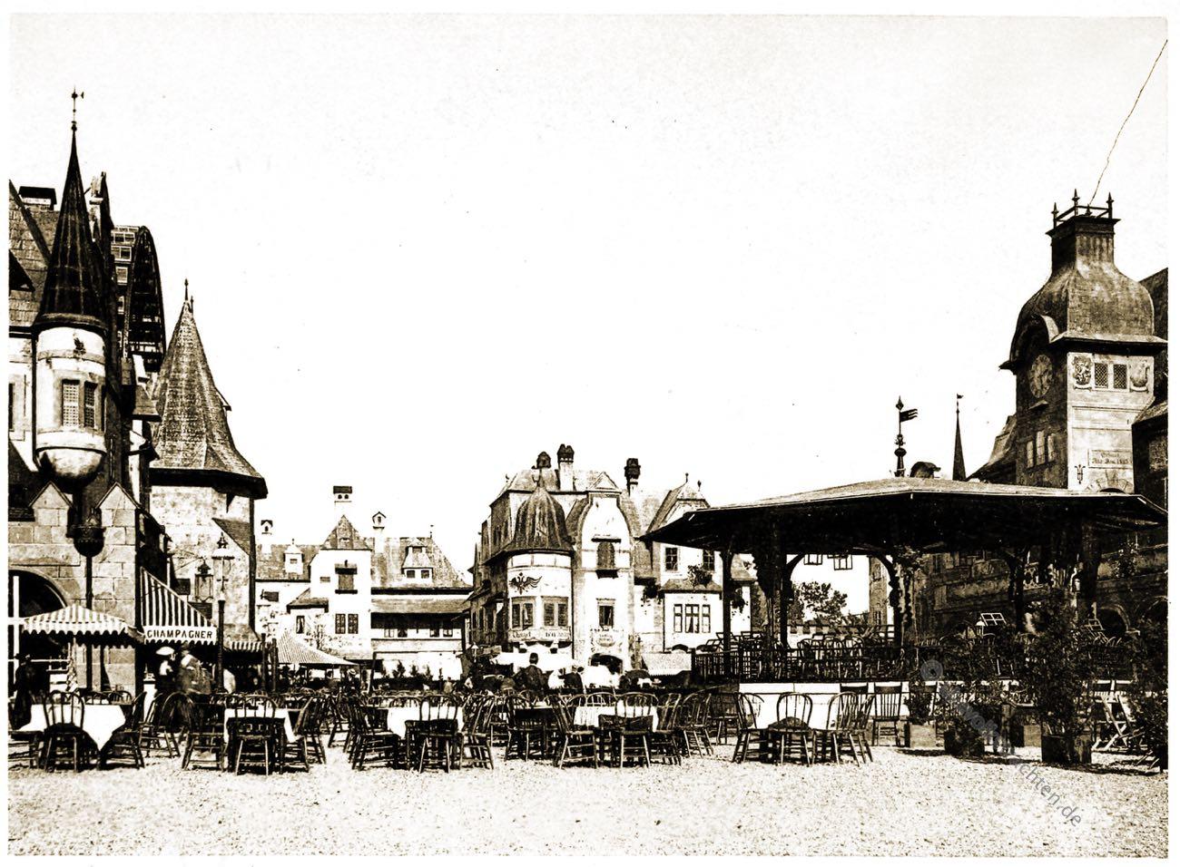 Stadtplatz, Alt-Wien, Stadt, Wien, Vienna, Columbian Exposition Chicago, Adolph Wittemann,