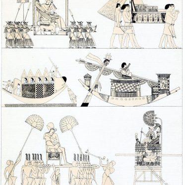 Antike. Transportmittel der Ägypter.