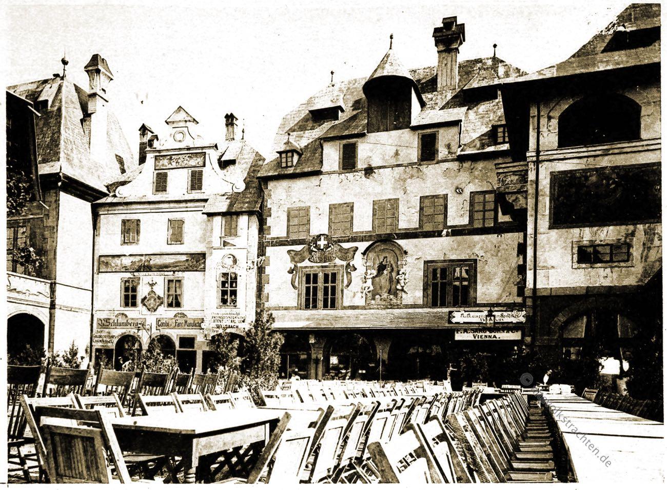Garten Restauration, Marien Haus, Alt-Wien, Columbian Exposition, Chicago, Adolph Wittemann, Stadtansicht