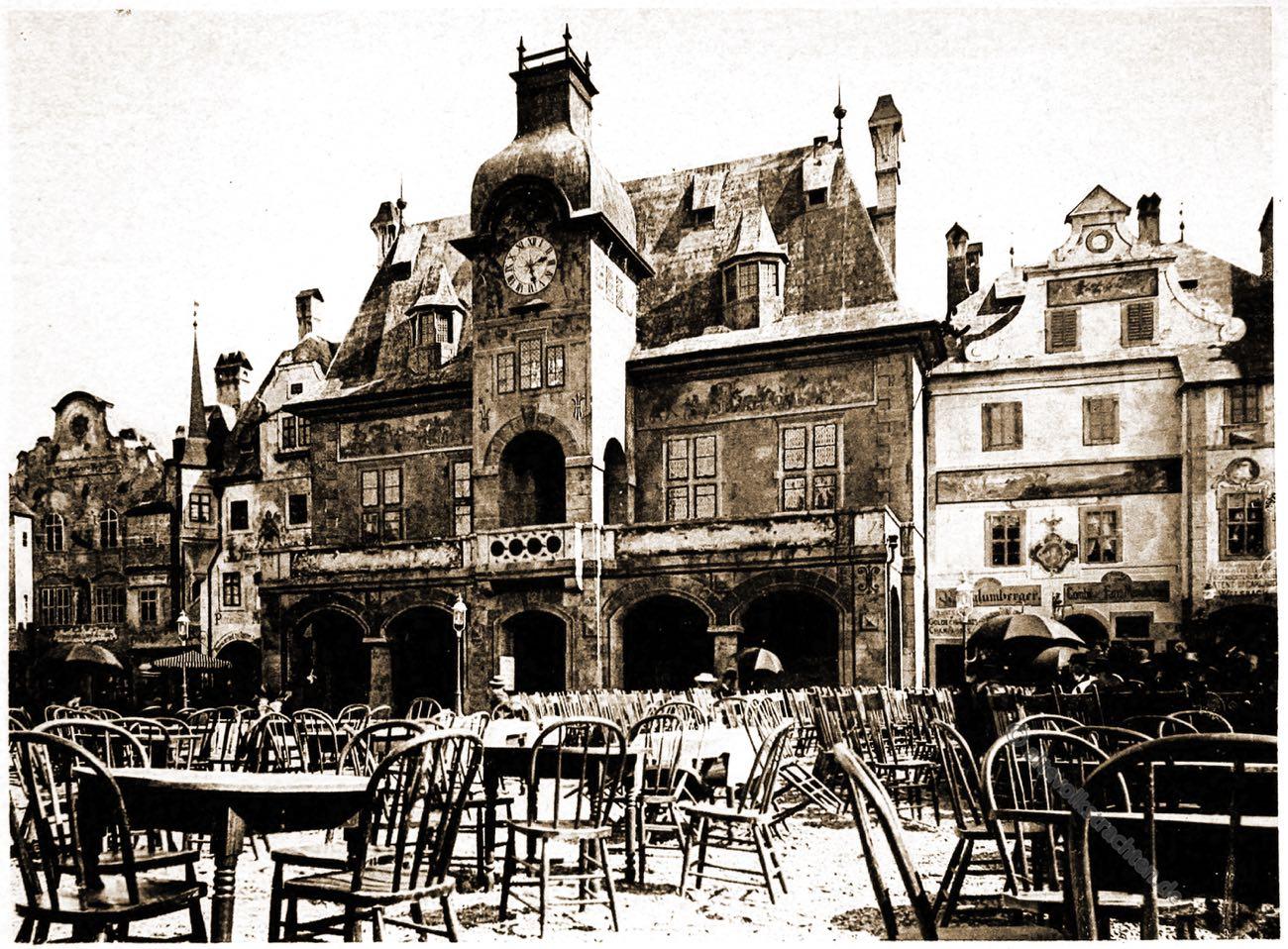 Rathaus, City Hall, Alt-Wien, Columbian Exposition, Chicago, Adolph Wittemann, Stadtansicht