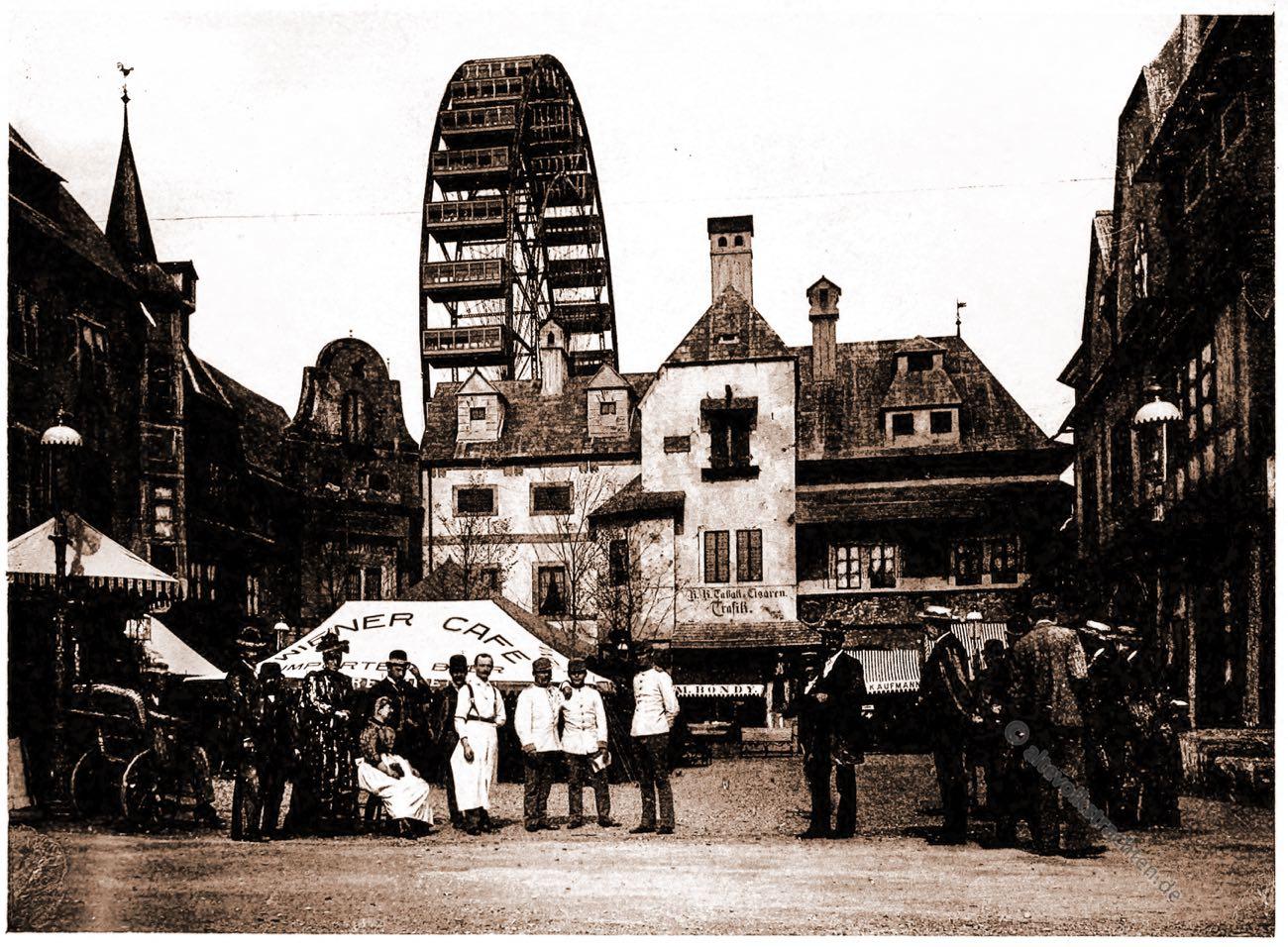 Wiener Hof, Alt-Wien, Columbian Exposition, Chicago, Adolph Wittemann, Stadtansicht