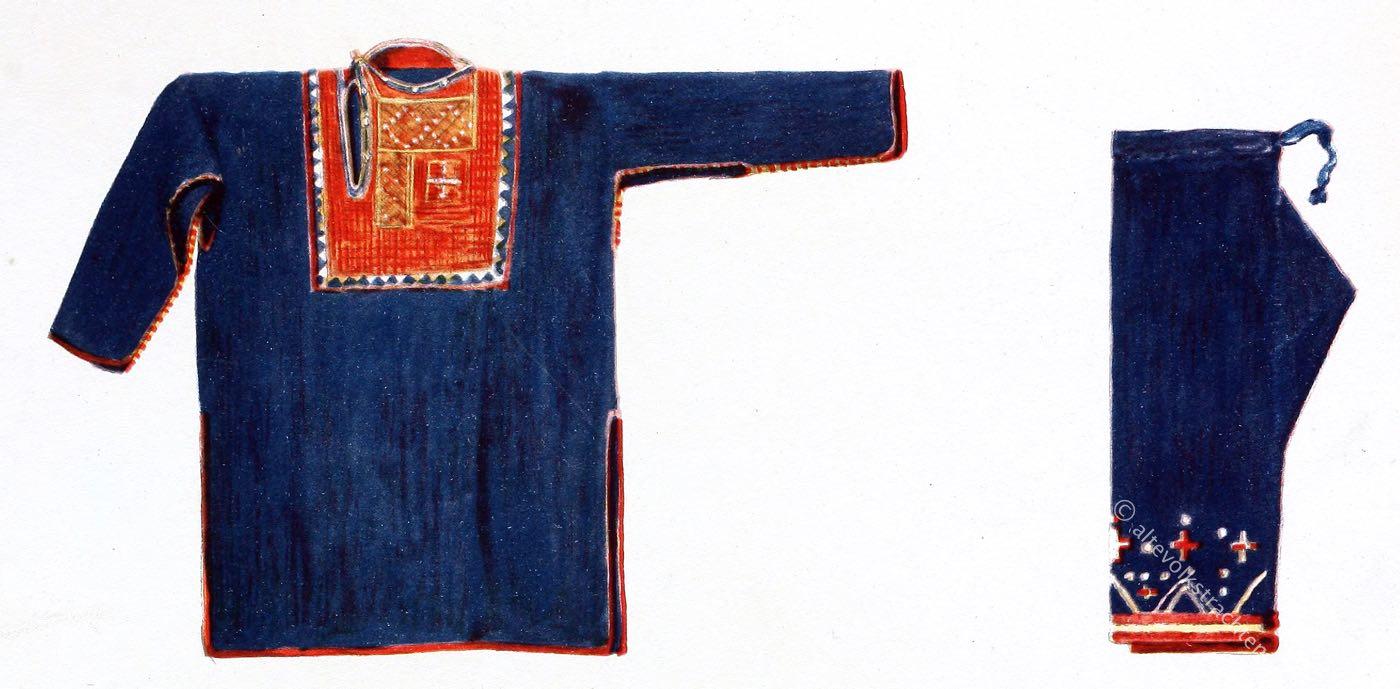 Max Tilke, Caucasus, Khevsur, Khevsurian, blouse, costume, traditional,