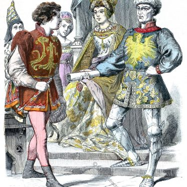 Burgunder am Hof von Karl dem Kühnen.