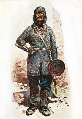 Chewsuren, Georgien, Chewsurianer, Ritter, Krieger, Kaukasus, Waffen