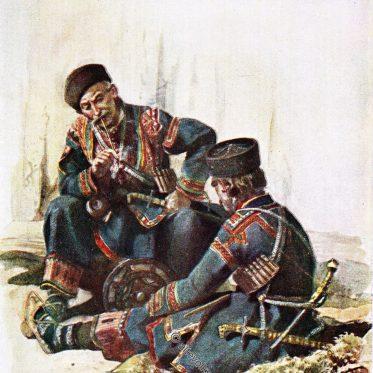 Chewsuren. Trachten des Kaukasus.
