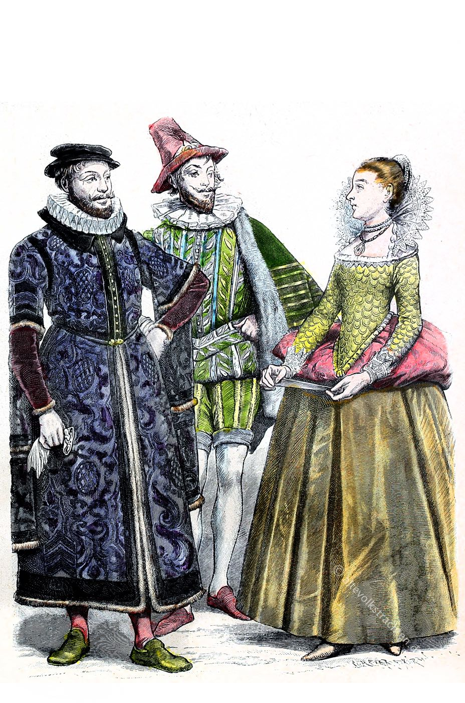 Münchener, Bilderbogen, England, Tudor, Mode, Renaissance