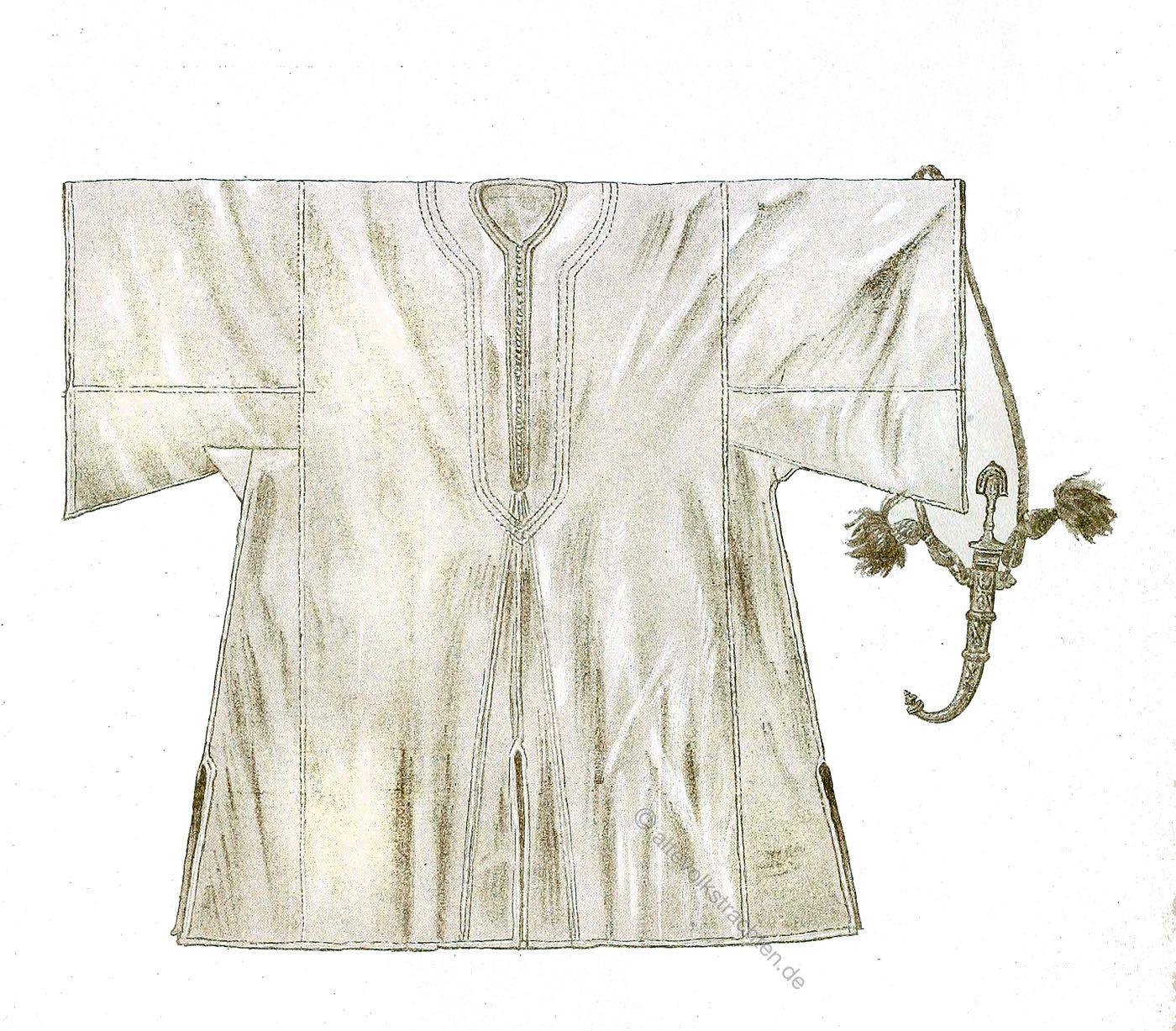 Farasia, Kaftan, Traditionell, Nordafrika, Marokko, Tracht, Max Tilke, Oriental costumes