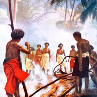 Feuerlauf auf Fidschi.