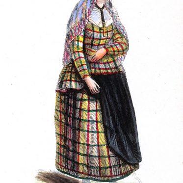 Frau von Friesland um 1840.