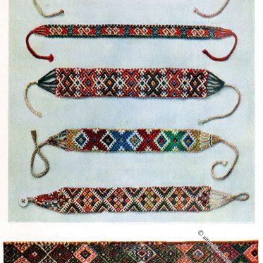 Glasperlen Halsketten aus Neresnice und Jasinia.