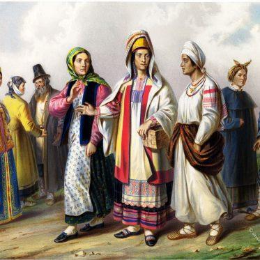 Völker Russlands. Grossrussen 1862.