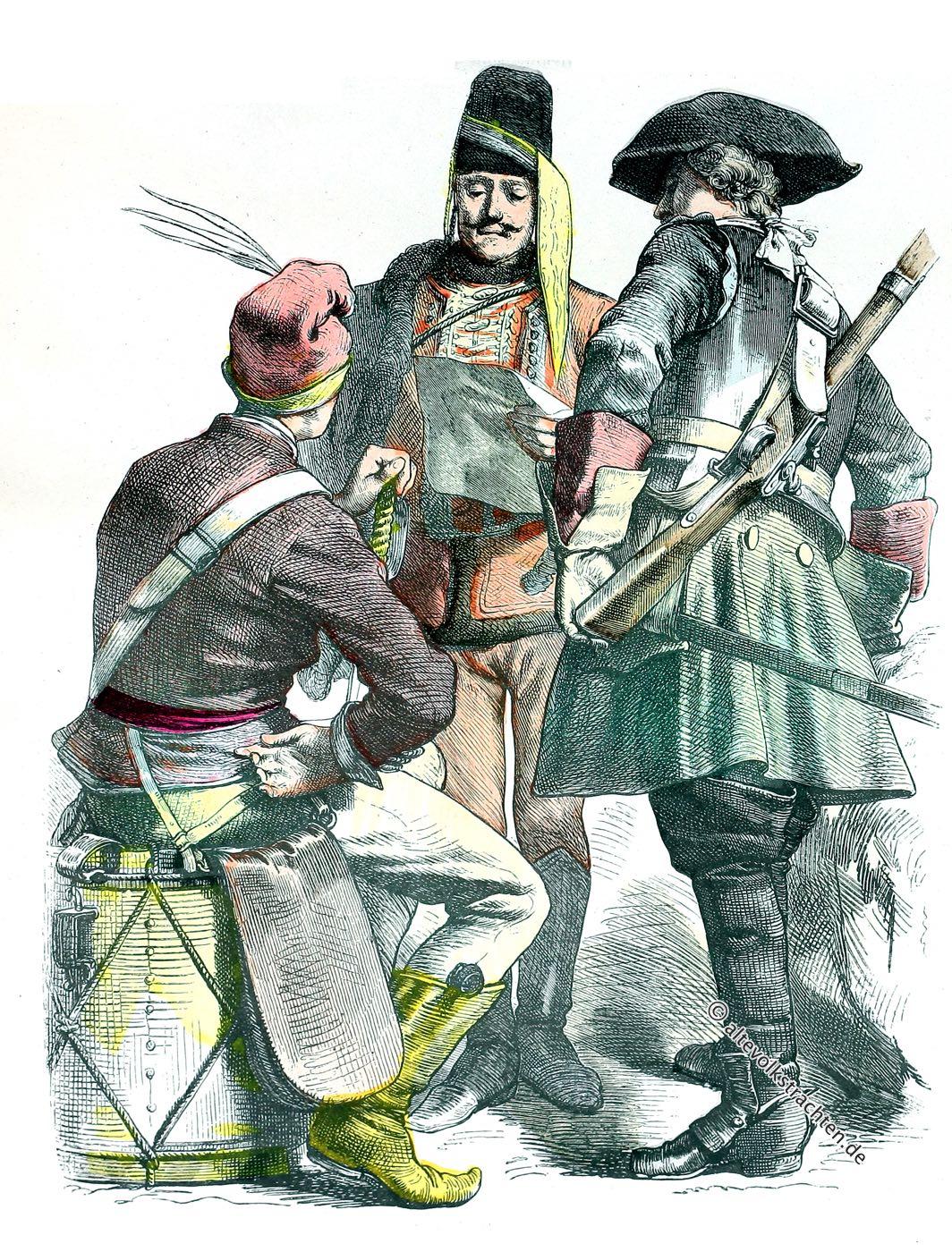 Münchener Bilderbogen, Österreich, Kavallerie, Uniformen, Militär, Barock, Kostümgeschichte