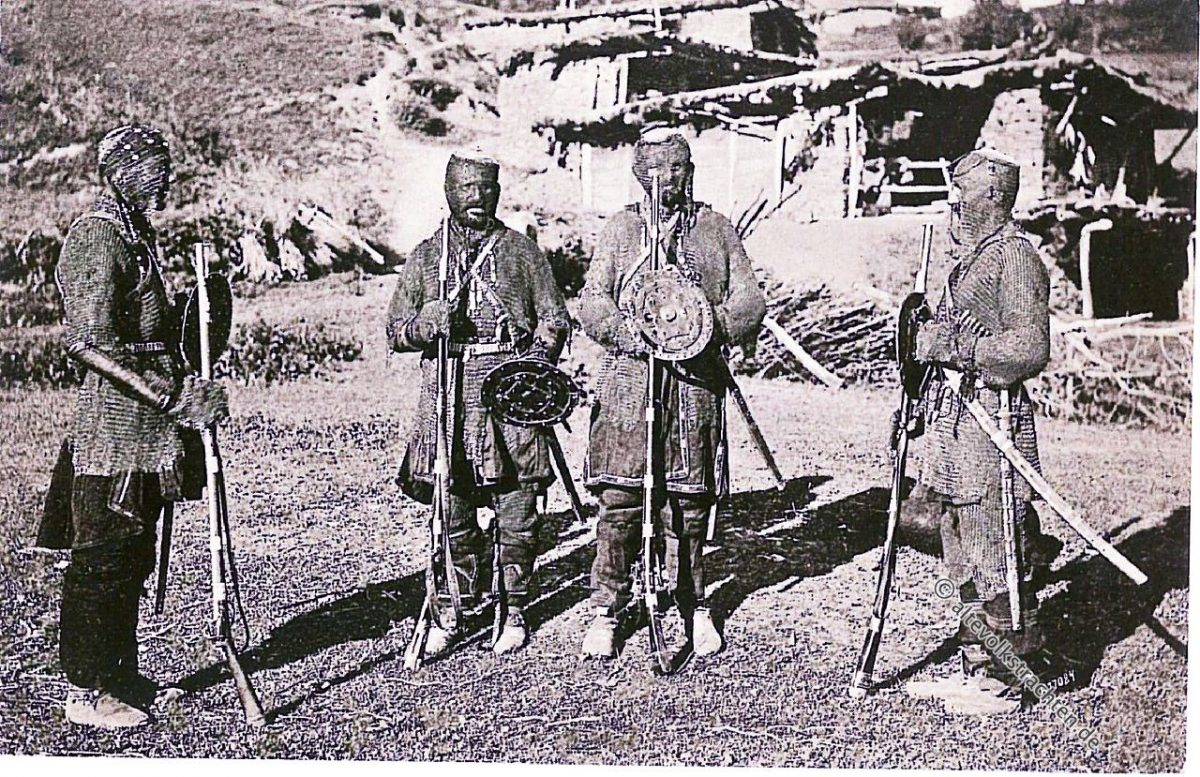 Chewsuren, Kaukasus, Georgien, Trachten, Krieger