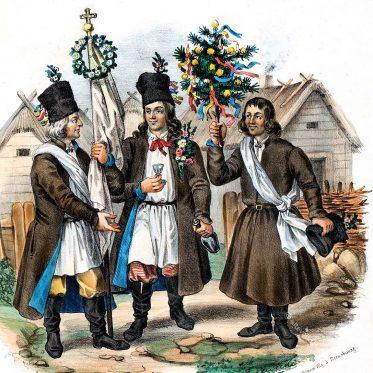 Polnische Landleute aus der Gegend von Lublin