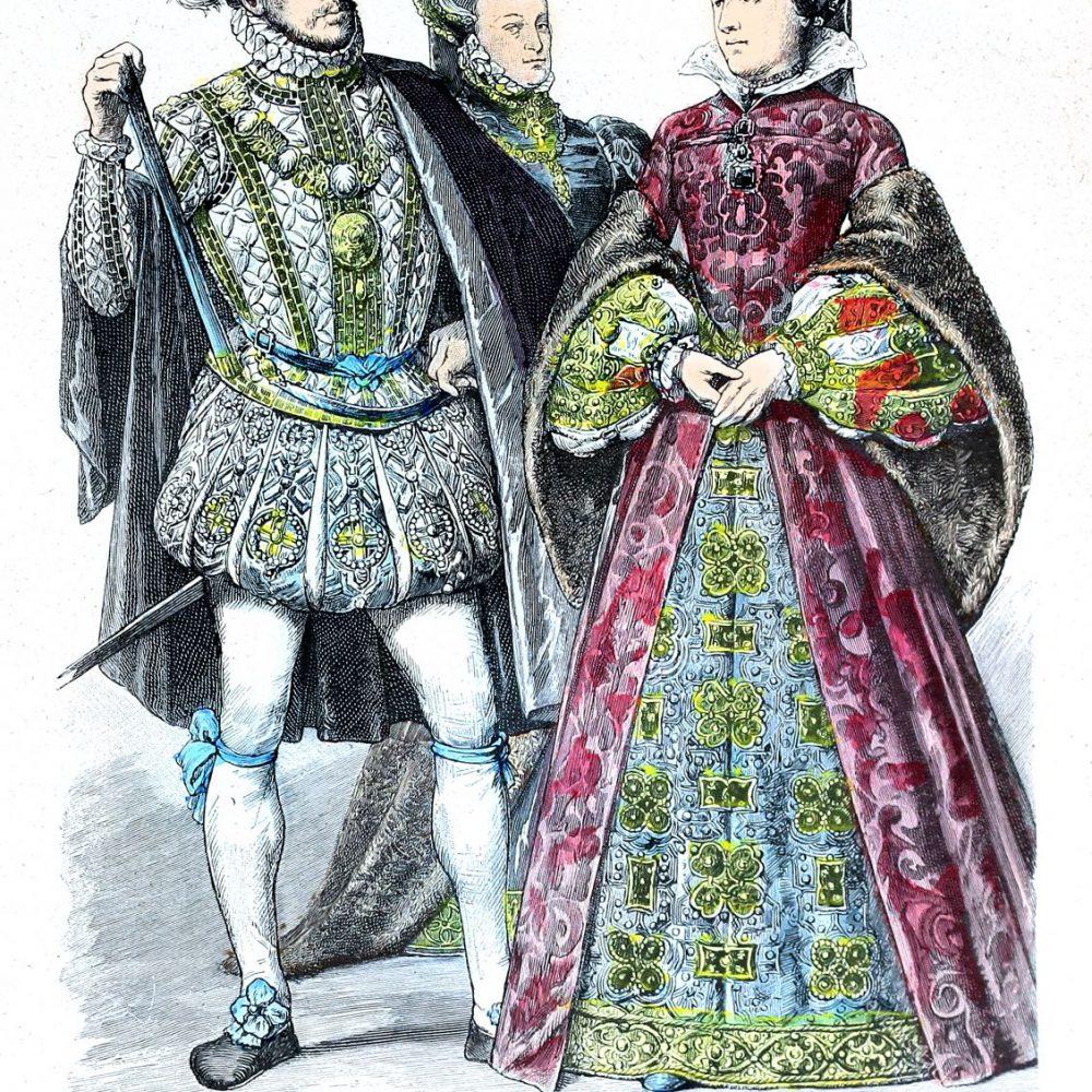Mode der Halskrausen, Kröse, Mühlstein zur Zeit des Barock