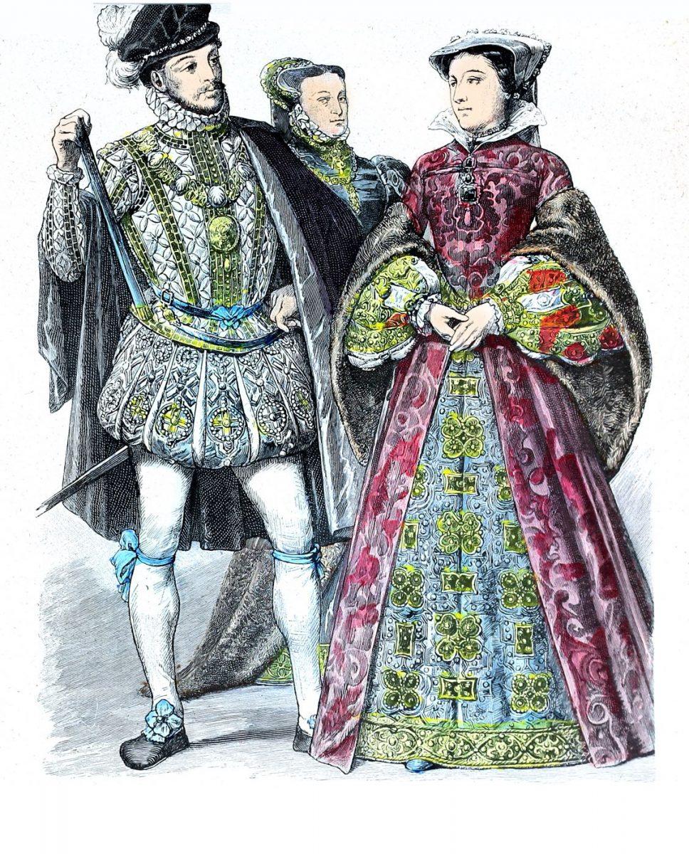 Maria Stuart Königin von Schottland und ihr Gemahl Lord Darnley 1566.