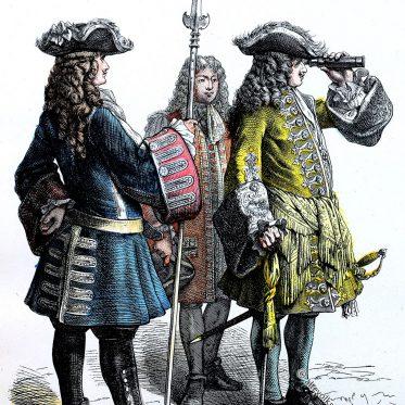Französischer Marshall und Subalternoffizier.