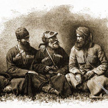 Mingrelische Typen und Kostüme, Georgien.