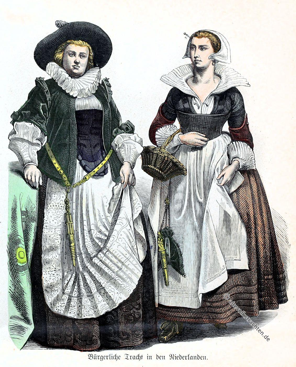 Münchener Bilderbogen, Kostüme, Barock, Trachten, Bürgerliche Tracht,