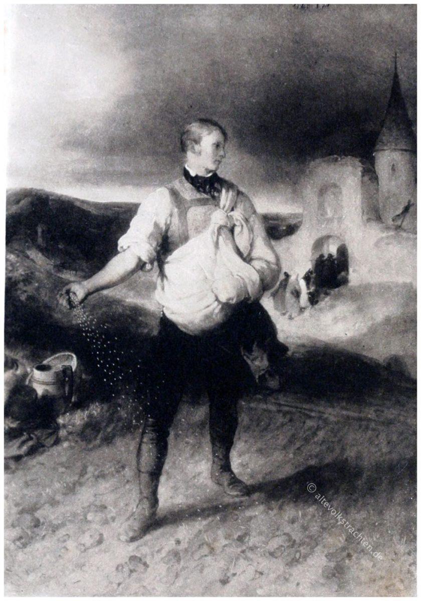 Der Sämann von Peter Fendi, 1839. Österreichischer Künstler des Biedermeier.