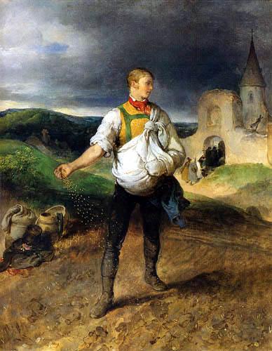 Peter Fendi - Der Sämann, österreichischer Künstler des Biedermeier.