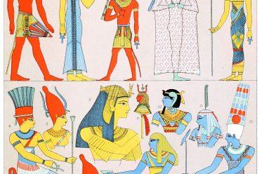 Auguste Racinet, Pharaonen, Ägypten, Antike, Kostüm, Trachten, Bekleidung, Kostümgeschichte,