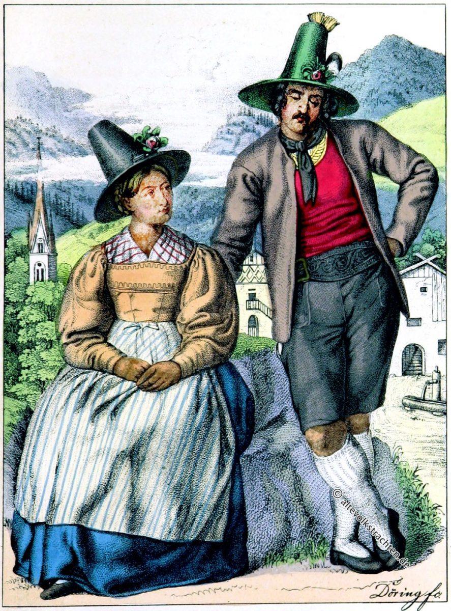Trachten aus dem Zillertal, Tirol.