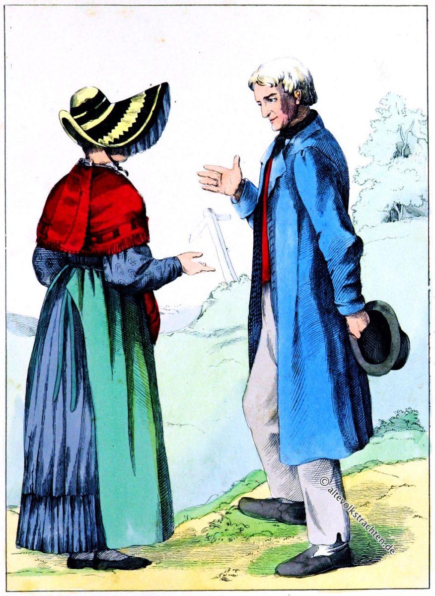 Sonntagstrachten aus Lengerich bei Osnabrück um 1840
