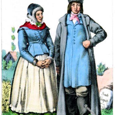 Paar in der Tracht von Oberschlesien.