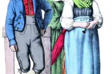 Österreich, Volkstrachten, Trachten, Sankt Gilgen, Salzburg, Fuschlsee, Eduard Duller