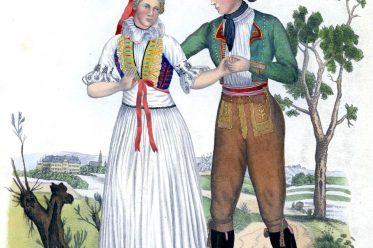 Hannaken, Volkstrachten, Morzitz, Olmütz, Olomouc, Mähren, Sudeten, Tschechien, Mořice,