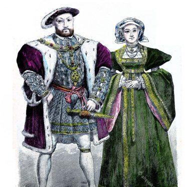 Tudor Heinrich VIII. und Anna von Cleve in 1525.