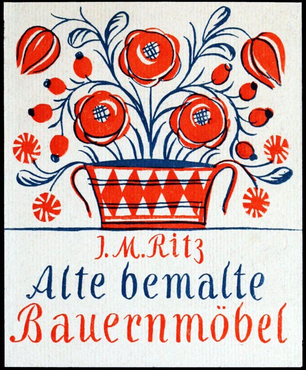 Alte bemalte Bauernmöbel: Mappen-Ausgabe von Josef Maria Ritz.