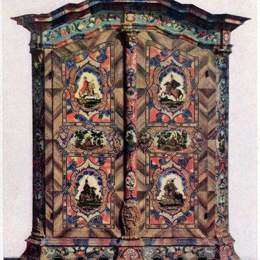 Bauernmöbel. Schrank aus Oberösterreich um 1790.