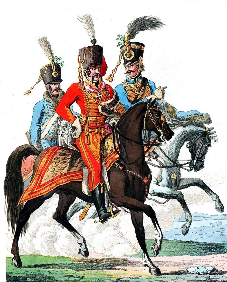 General, Ordonnanz, Adjutant der Königlich ungarischen Kavallerie um 1820.