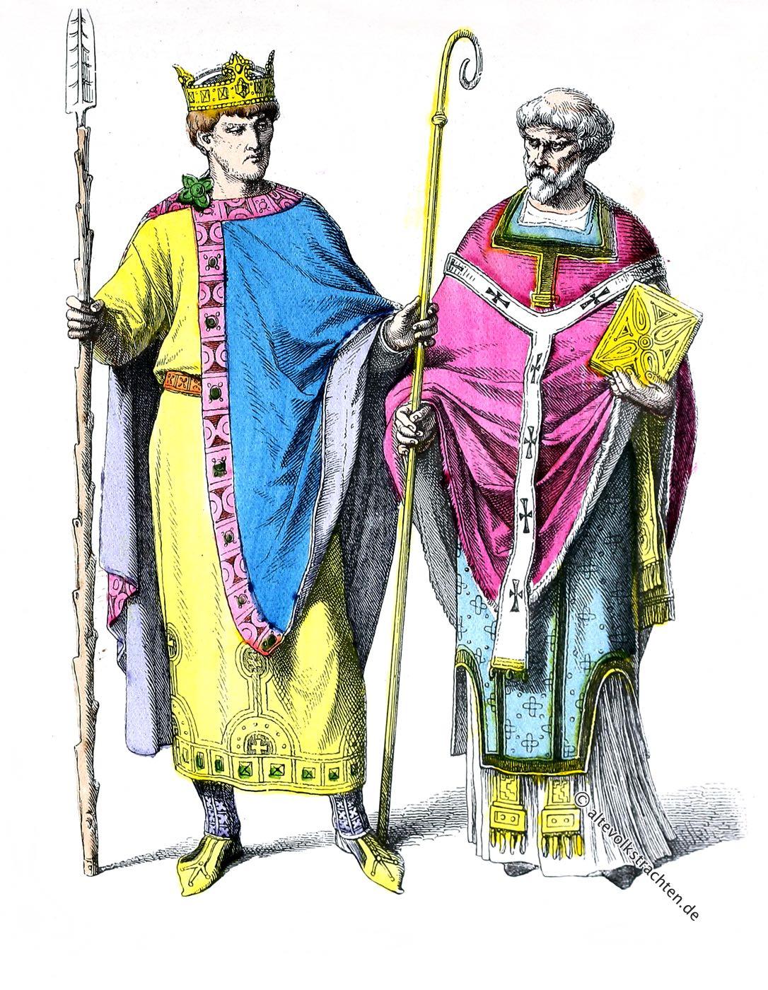 Münchener Bilderbogen, Kaiser, Heinrich II, Fränkischer Bischof, Kostüm, Byzantinisch, Ottonen