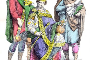 Karl der Große, Kaiser, Hofschreiber, Knappe, Karolinger, Mittelalter, Kleidung