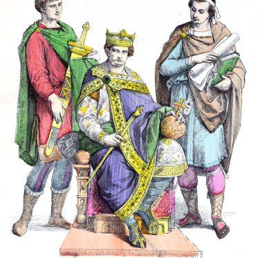 Karl der Große im kaiserlichen Ornat.
