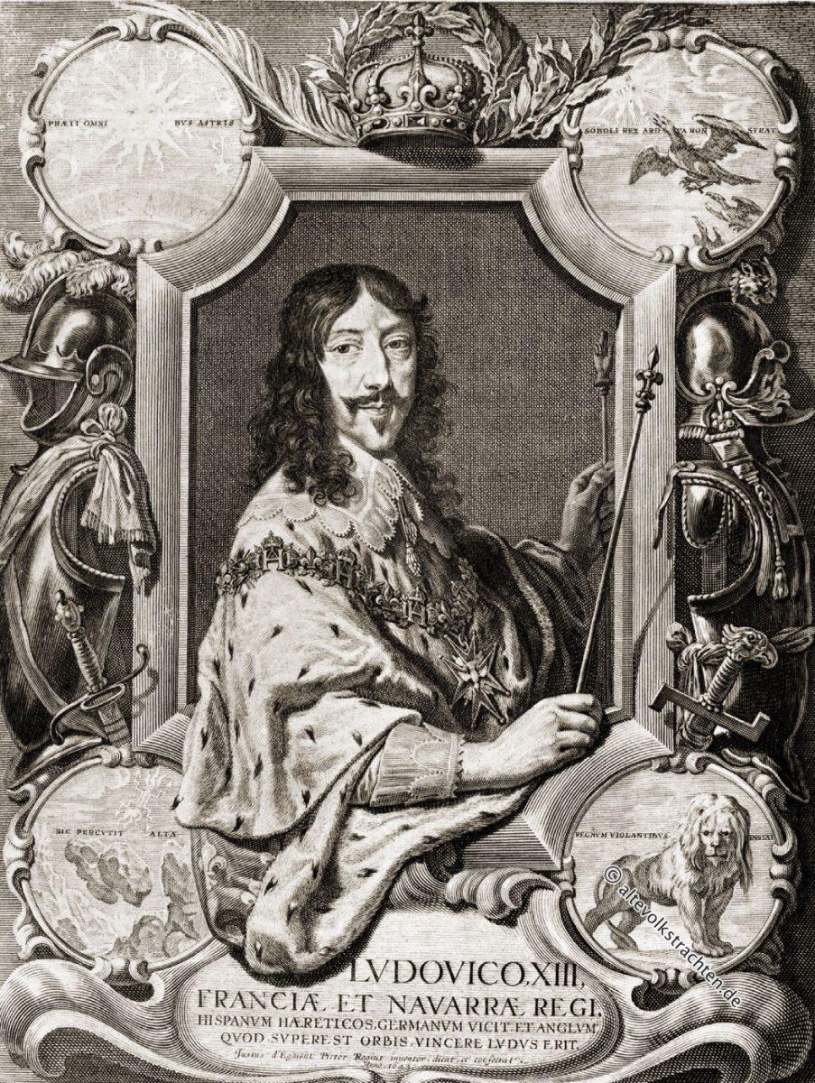 Ludwig XIII., König von Frankreich 161O-1643.