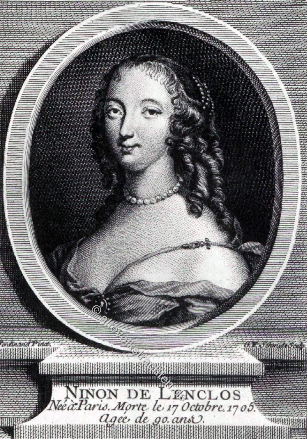 Ninon de Lenclos, Autorin, Louis XIV, Kurtisane, Salonnière, Barock, Mode