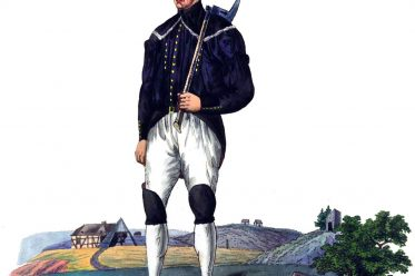 Hüttenleute, Bergmann, Arbeitstracht, Tracht, Erzgebirge, Sachsen, Freiberg, Beschert Glück, Paradetracht