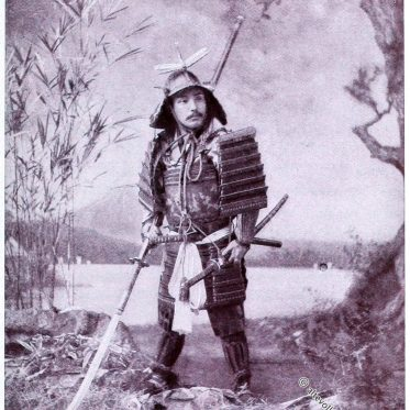 Japanischer Krieger. Samurai in Rüstung.