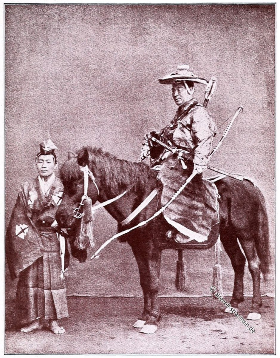 Samurai der Kamakura-Zeit. Jagdkostüm. Captain F. Brinkley, Kazuma Ogawa