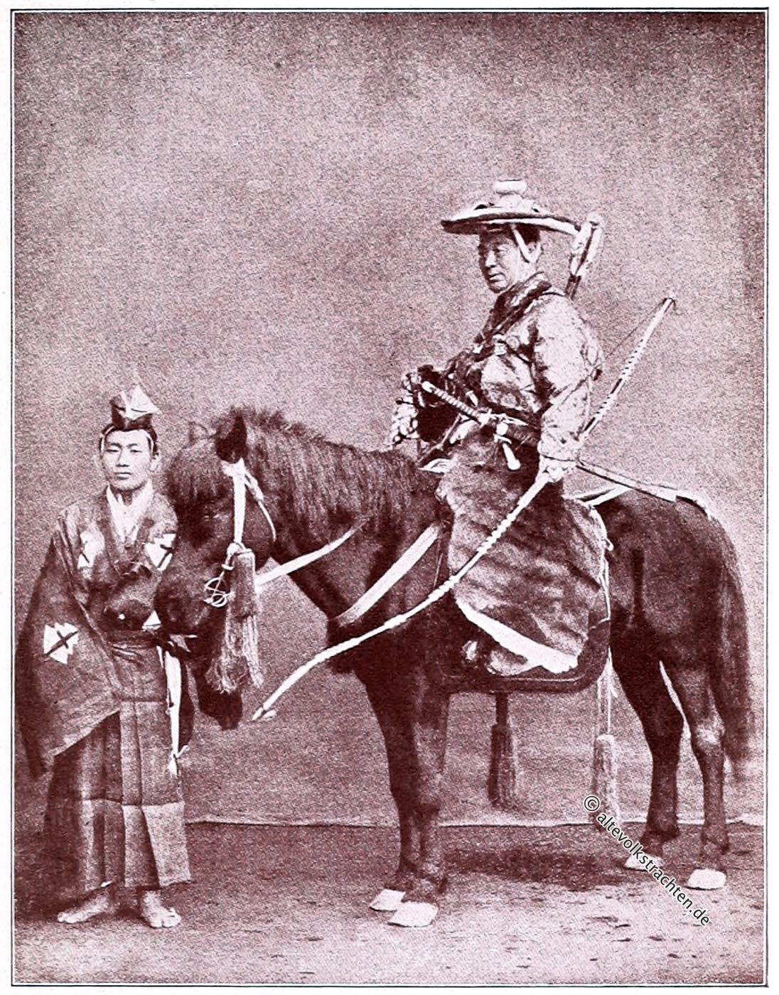 Samurai, Kamakura, Jagdkostüm, Samuraischwert, Kostüm, Japan, Captain F. Brinkley, Kazuma Ogawa