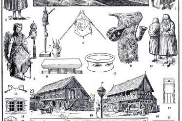 Kultur, Sorben, Wenden, Spreewald, Oberlausitz, Sorbische Tracht, Buntstickerei
