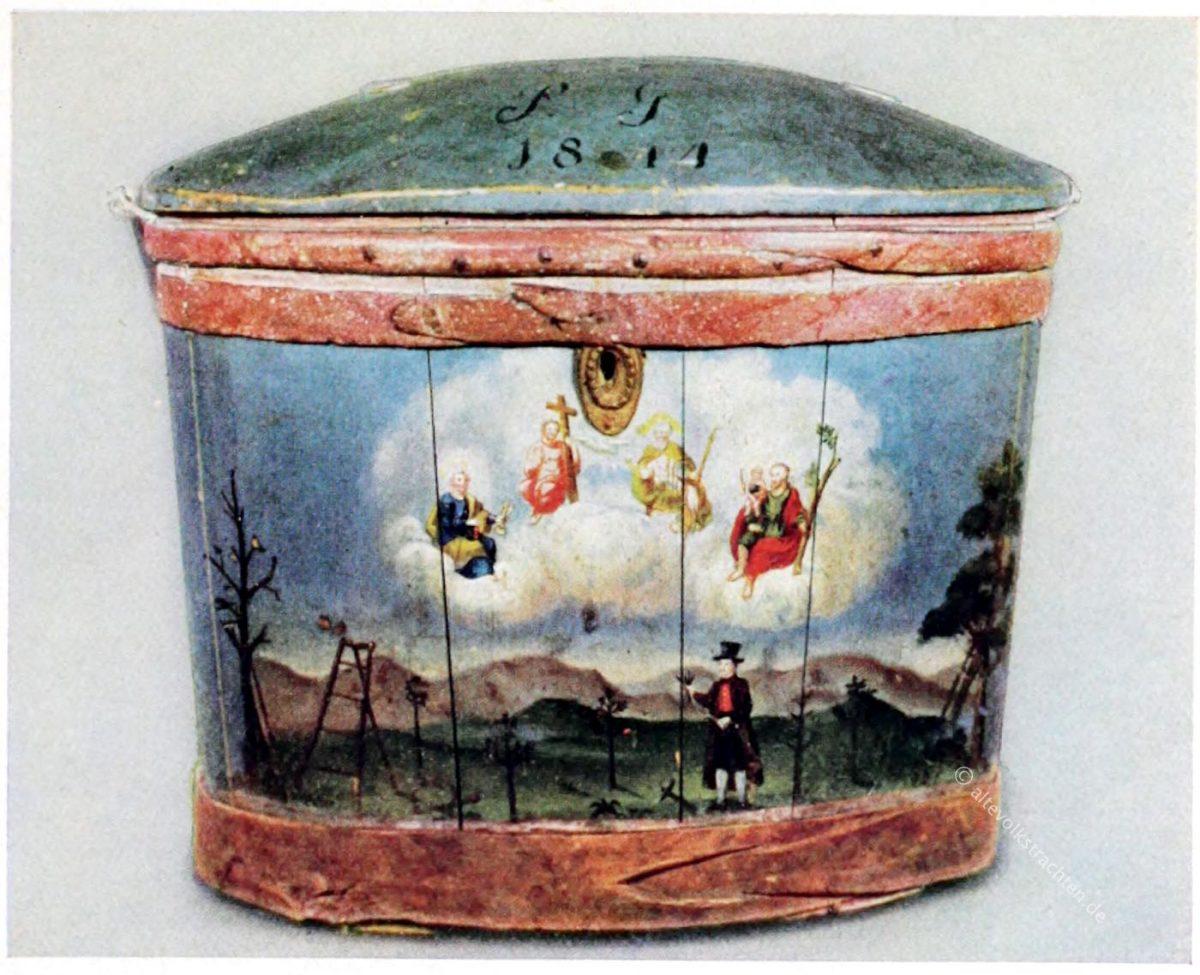Tirol, Wasserkübel, Tragtier, Bauernmöbel, Antik,