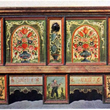 Zillertaler Truhe von 1820.