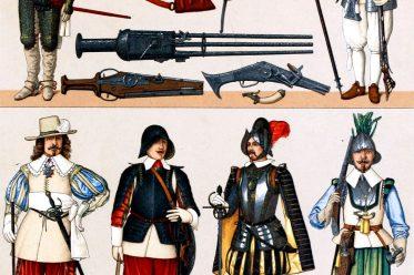 Frankreich, Mode, Militär, Waffen, Trachten, Barock, Renaissance, Auguste Racinet,